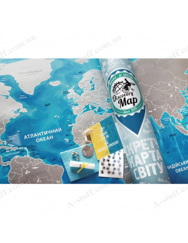 Discovery Map World Silver (in Ukrainian)