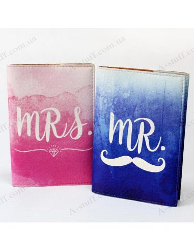 """Набор обложек на паспорт """"Mr & Mrs"""""""