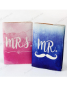 """A set of covers for the passport """"Mr & Mrs"""""""