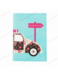 "Cover on the passport ""Retro car"""