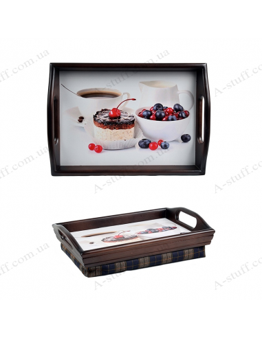 """Tray on a pillow with handles """"Berry morning"""""""