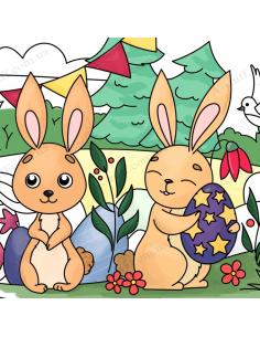 """Карманная раскраска """"Пасхальные кролики"""""""
