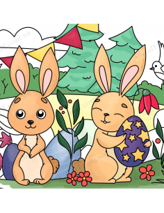 "Pocket Coloring ""Easter rabbits"""