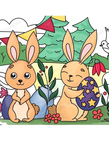 """Кишенькова розмальовка """"Великодні кролики"""""""