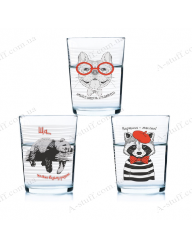 """A set of glasses """"Good Company"""" (3 pcs.)"""