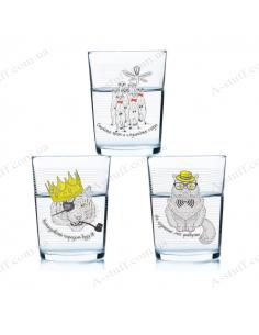 "A set of glasses ""Good Company"" (3 pcs.) yellow"