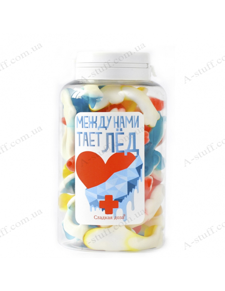 """Candy jar """"Ice melts between us"""""""