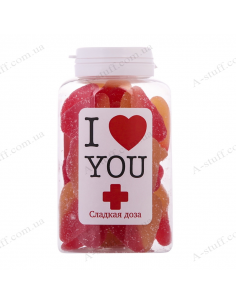 "Candy jar ""I love you"""