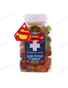 "Candy jar ""For Superhero"""