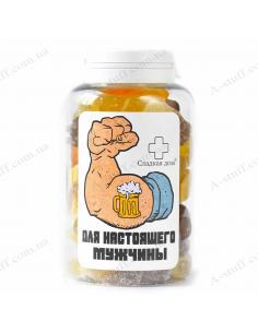 """Банка конфет """"Для настоящих мужчин"""""""