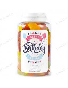 "Candy jar ""For a birthday"""