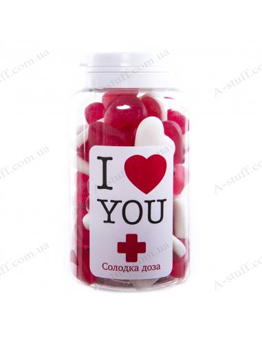 """Банка цукерок """"Я люблю тебе"""" (UA)"""