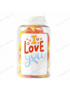 "Candy Jar Panda ""I Love You"" New"