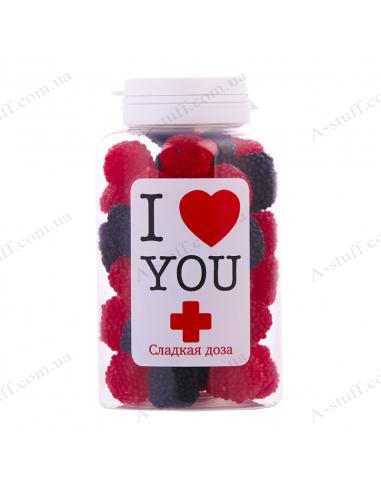 """Банка конфет ежевика """"Я люблю тебя"""""""