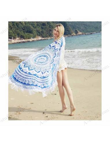"""Пляжний килимок блакитний """"Мандала"""""""