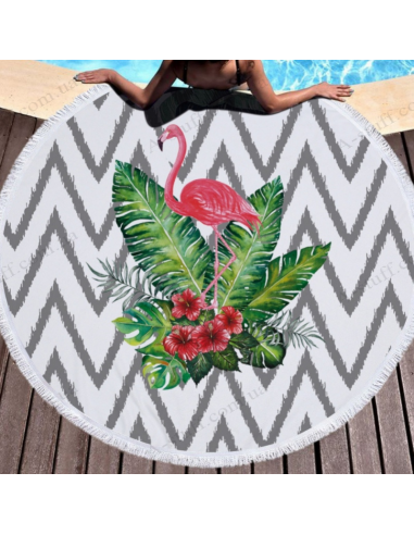 "Beach mat ""Tropical Flamingo"""