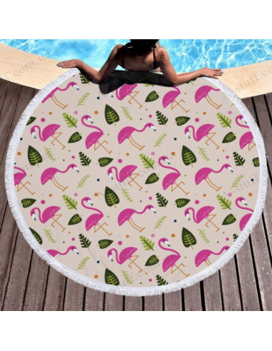 "Beach mat ""Summer Flamingo"""