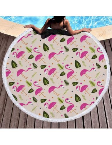 """Пляжний килимок """"Літній Фламінго"""""""