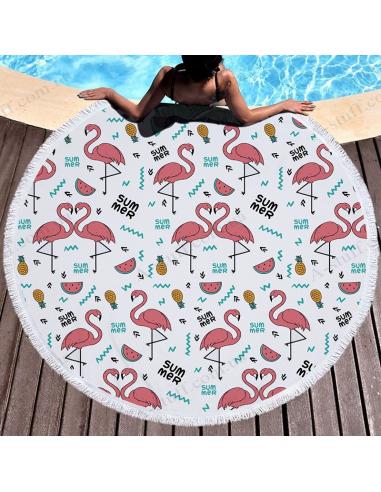 """Пляжний килимок """"Фламінго Summer"""""""