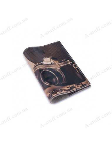 """Обложка для паспорта кожа """"Будни фотографа"""""""
