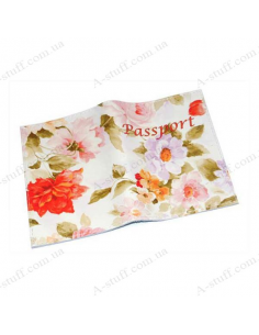 """Cover for passport leather """"Spring"""""""