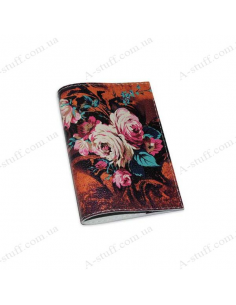 """Cover for passport leather """"Autumn Bouquet"""""""