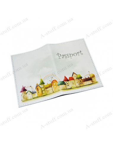 """Cover for passport leather """"Houses"""""""