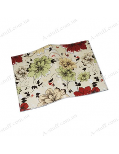"Cover for passport leather ""Flowers on a Beige Background"""