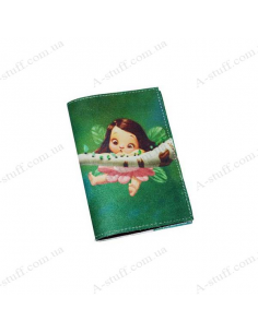 """Cover for passport leather """"The Fairy on the Tree"""""""