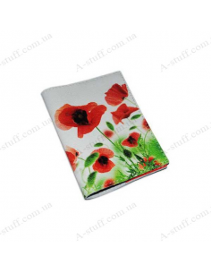 "Cover for passport leather ""Poppies"""