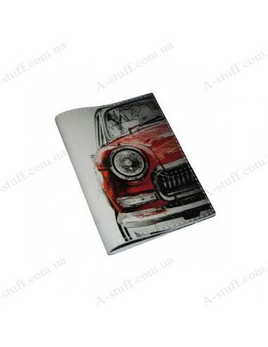 """Кожаная обложка на паспорт """"Красная машинка"""""""