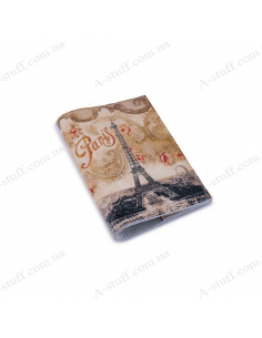 """Leather cover for the passport """"Vintage Tower"""""""
