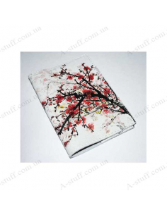 """Leather cover for the passport """"Sakura in the snow"""""""