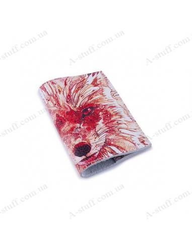 """Leather cover for the passport """"A fox"""""""