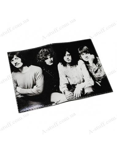 "Шкіряна обкладинка на паспорт ""Led Zeppelin"""