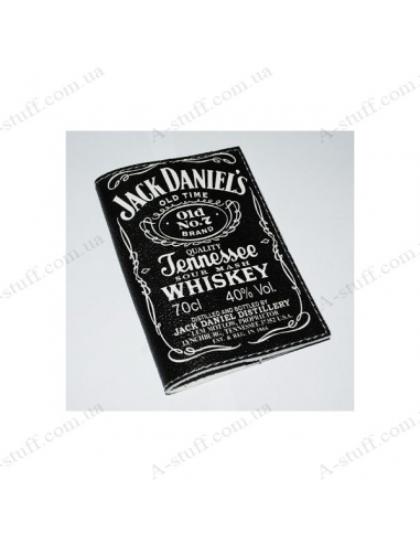 """Leather cover for the passport """"Jack Daniels Black"""""""