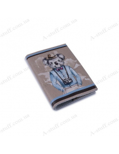 "Leather cover for the passport ""Koala"""