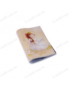 """Leather cover for the passport """"Young needlewoman"""""""