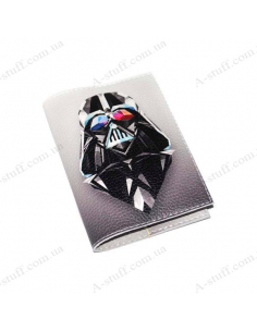 "Leather cover for the passport ""Darth Vader"""