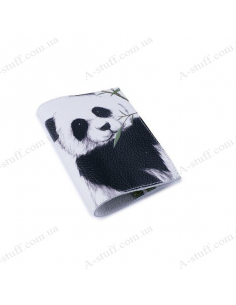 """Leather cover for the passport """"Panda"""""""