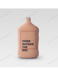 """Pouch for bottle """"Think outside the box"""""""