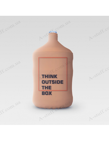 "Pouch for bottle ""Think outside the box"""