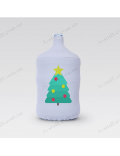 """Pouch for bottle """"Minimalistic Christmas tree"""""""
