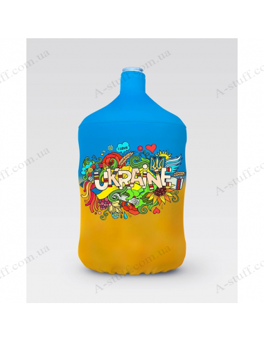"""Pouch for bottle """"I ♥ Ukraine"""" (blue and yellow)"""