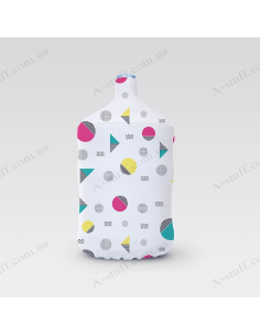 "Pouch for bottle ""Triangles & circles"""