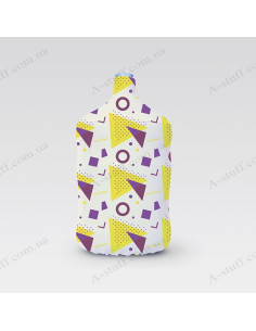 """Pouch for bottle """"White shapes"""""""