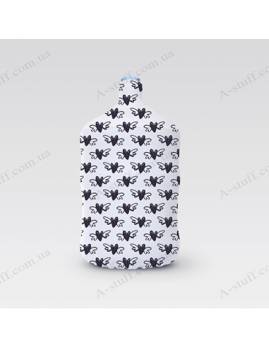 """Pouch for bottle """"Black hearts"""""""