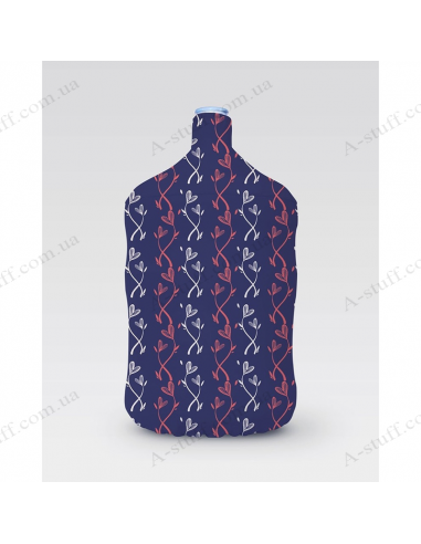 """Pouch for bottle """"Blue hearts"""""""