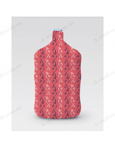 "Pouch for bottle ""Red hearts"""
