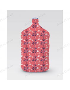 """Pouch for bottle """"Red plants"""""""